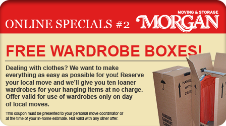 Free Wardrobe Boxes - Morgan Moving and Storage