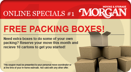 Free Moving Boxes - Morgan Moving and Storage