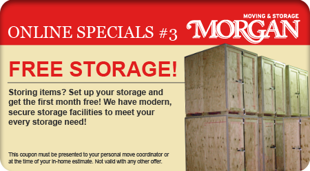 Free Storage - Morgan Moving and Storage