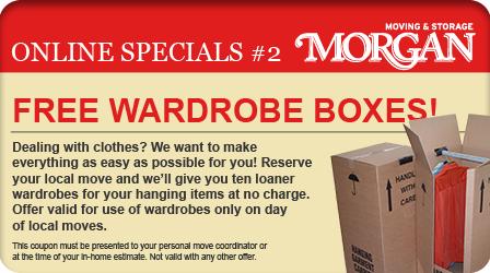 Free Wardrobe Boxes - Morgan Moving and Storage