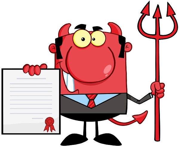 Moving contract with the devil